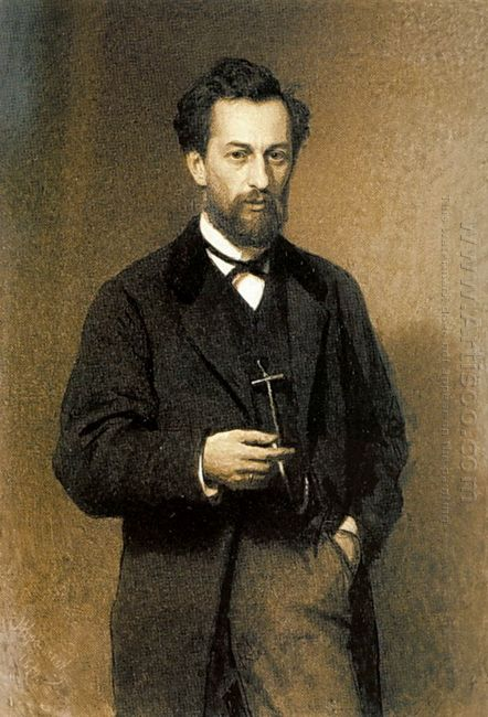 Portrait Of The Artist Mikhail Konstantinovich Klodt 1871