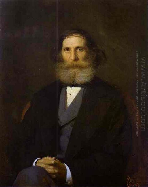 Portrait Of The Artist Nikolay Bogoliubov 1876