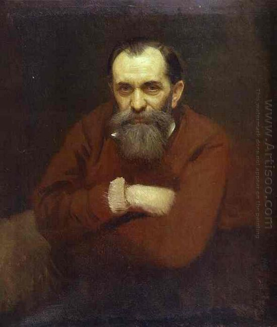 Portrait Of The Artist Vasily Perov 1881