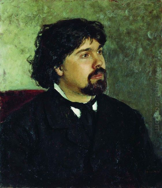 Portrait Of The Artist Vasily Surikov 1885