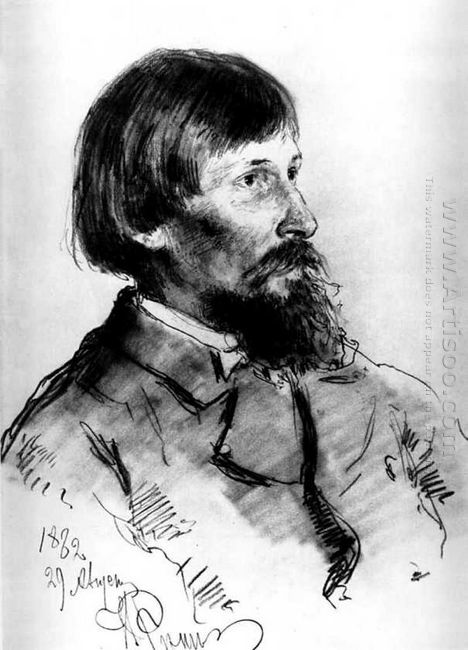 Portrait Of The Artist Viktor Vasnetsov 1882