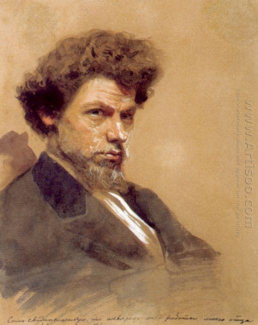 Portrait Of The Artist V M Maksimov