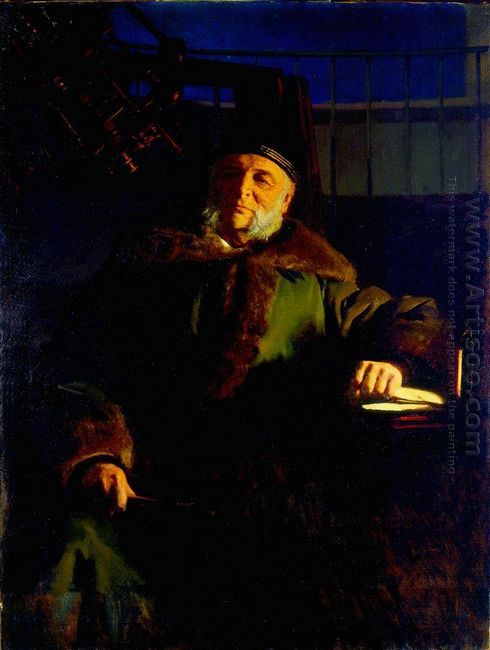 Portrait Of The Astronomer Otto Struve Vasilyevich 1886