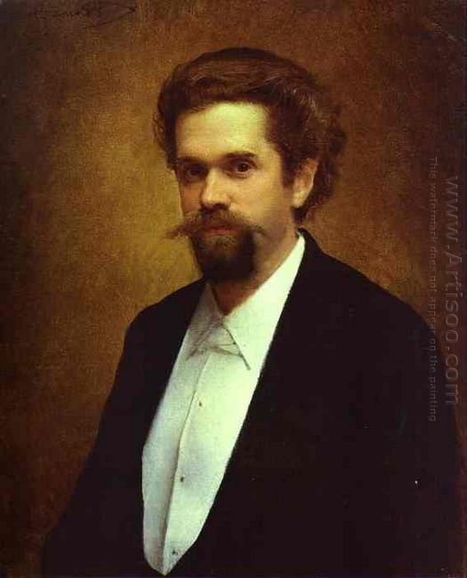Portrait Of The Cellist S Morozov 1884