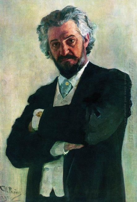 Portrait Of The Chello Player Alexander Verzhbilovich 1895