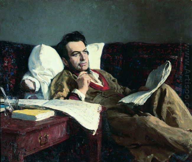 Portrait Of The Composer Mikhail Glinka 1887