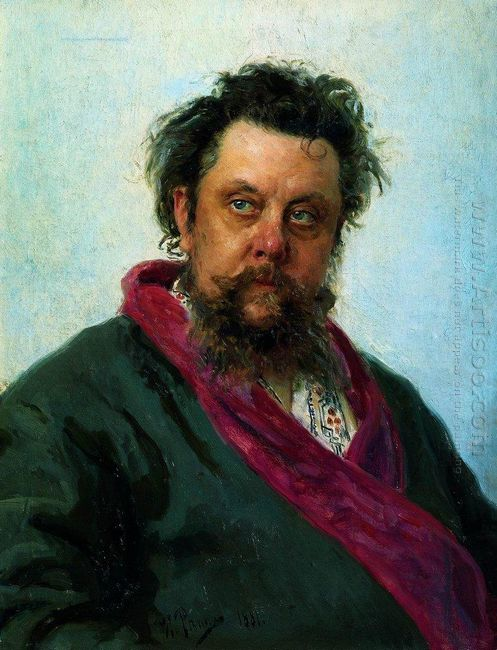 Portrait Of The Composer Modest Musorgsky 1881 by Ilya Repin
