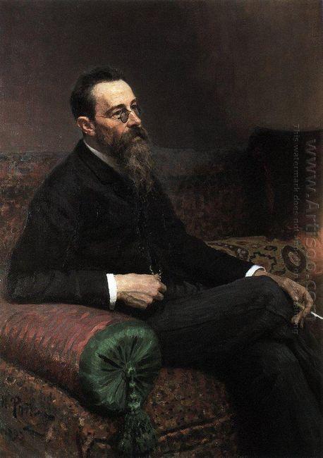 Portrait Of The Composer Nikolay Rymsky Korsakov 1893
