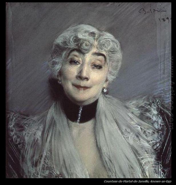 Portrait Of The Countess De Martel De Janville Known As Gyp 1850