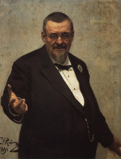 Portrait Of The Lawyer Vladimir Spasovitch 1891