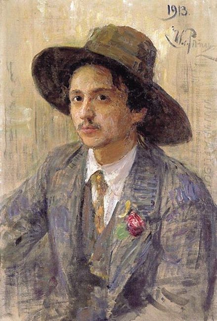 Portrait Of The Painter Isaak Izrailevich Brodsky 1913