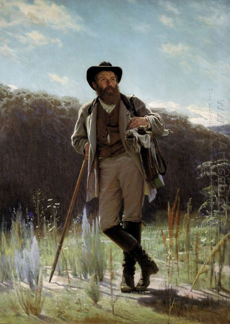 Portrait Of The Painter Ivan Shishkin 1873