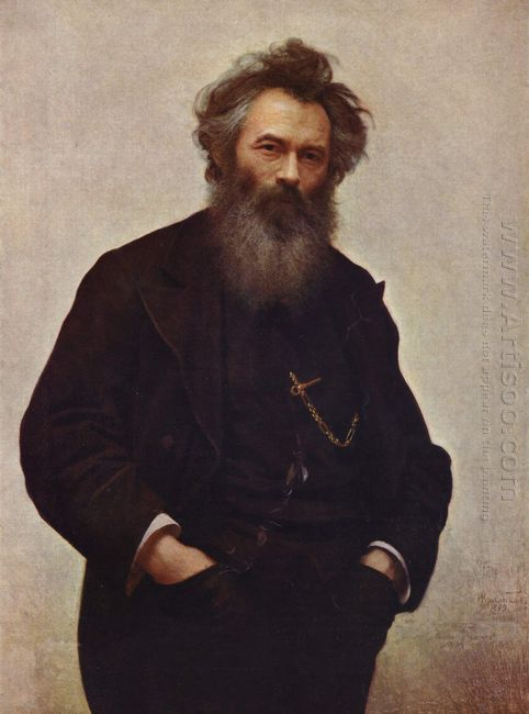 Portrait Of The Painter Ivan Shishkin 1880