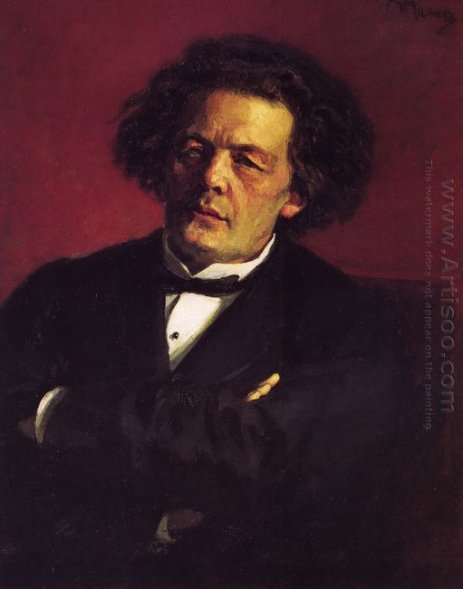 Portrait Of The Pianist Conductor And Composer Anton Grigorievic