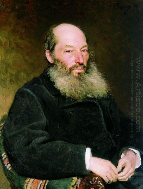 Portrait Of The Poet Afanasy Fet 1882