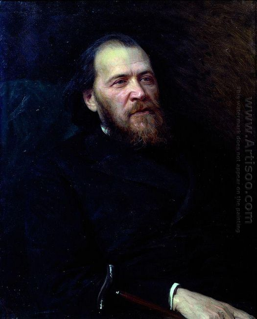 Portrait Of The Poet Yakov Polonsky 1875