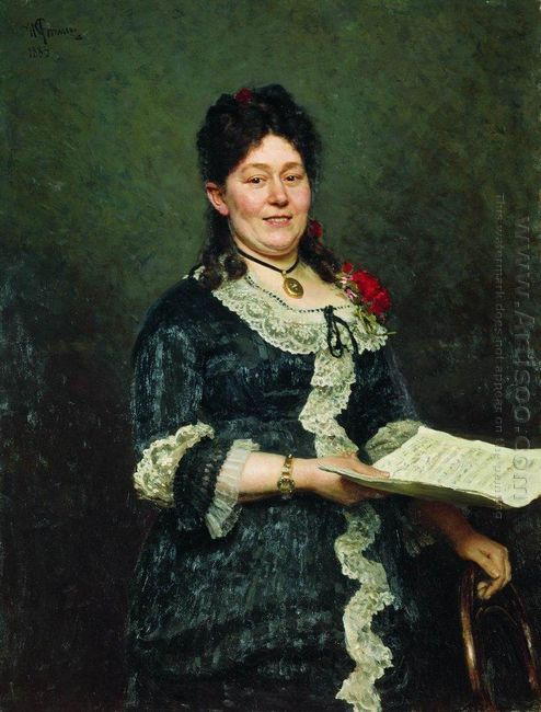 Portrait Of The Singer Alexandra Molas 1883