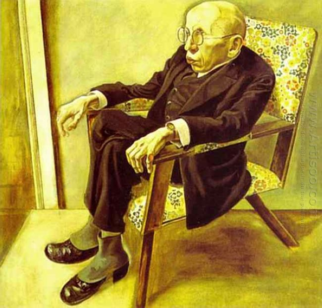 Portrait Of The Writer Max Herrmann Neisse 1925