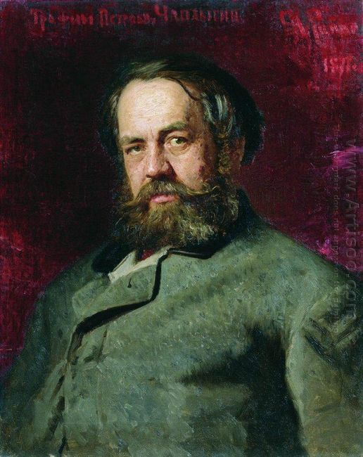 Portrait Of T P Chaplygin A Cousin Of Ilya Repin 1877