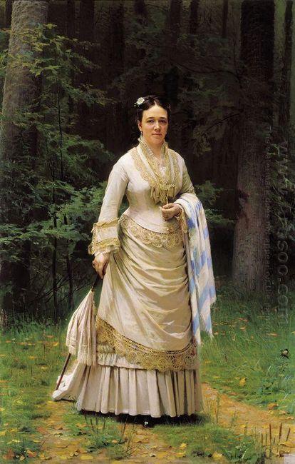 Portrait Of Vera Nikolaevna Tretyakova 1876