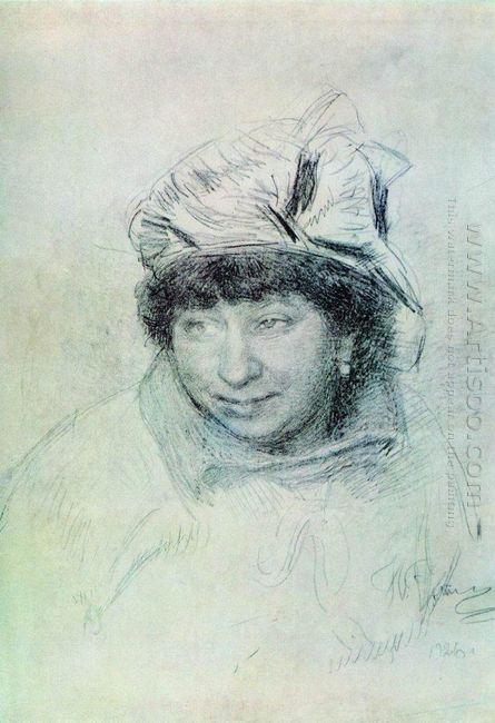 Portrait Of Vera Repina 1925