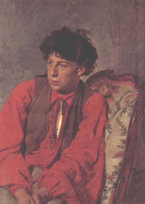 Portrait Of V E Repin The Artist S Brother 1867