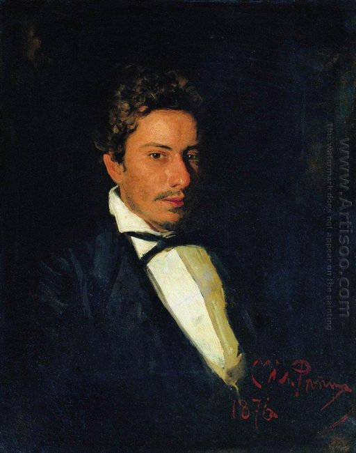 Portrait Of V Repin Musician Brother Of The Artist 1876