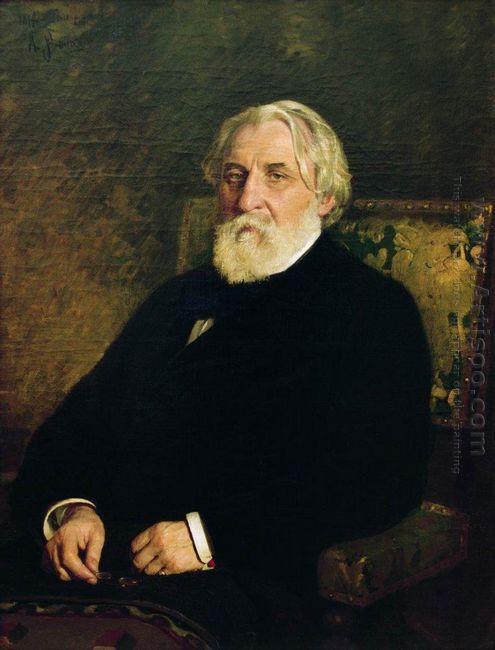 Portrait Of Writer Ivan Sergeyevich Turgenev 1874