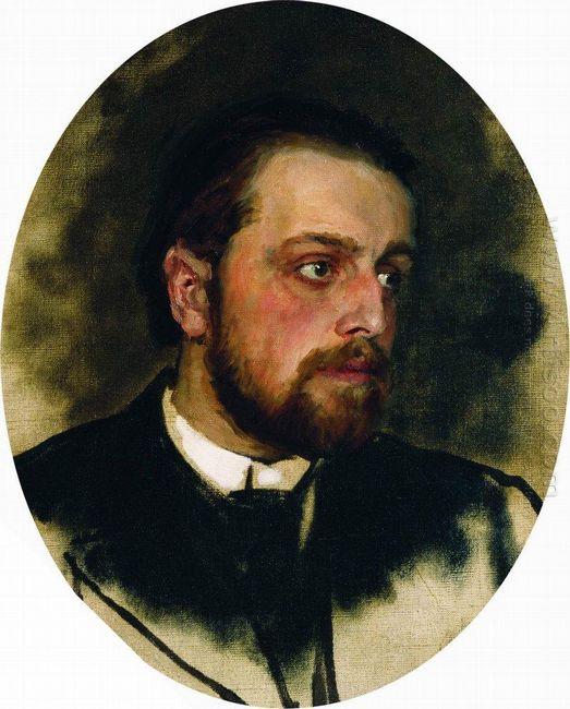 Portrait Of Writer Vladimir Grigorievich Chertkov 1890