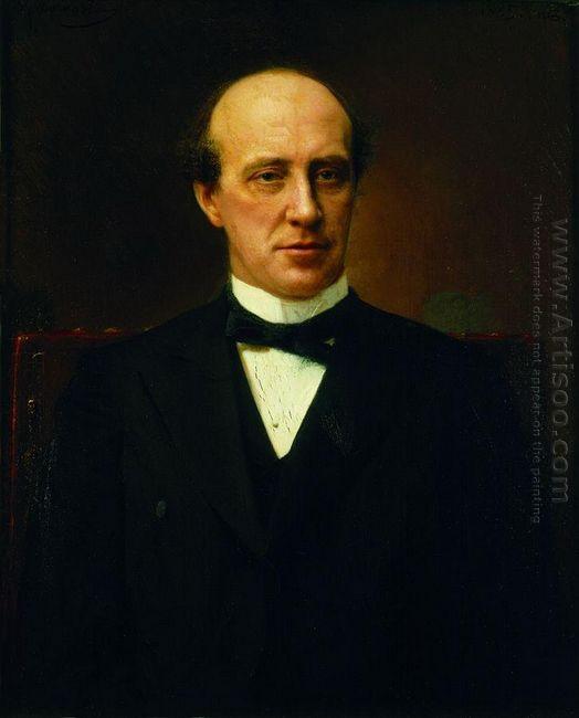 Portrait Of Yuri Stepanovich Nechaev Maltsev 1885