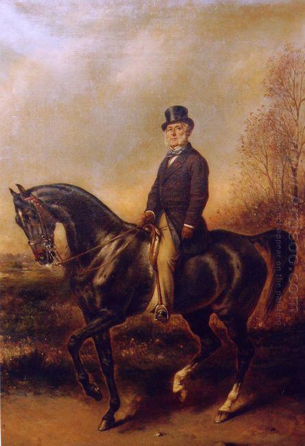 Portrait Questre De Fran Ois Adolphe Akermann