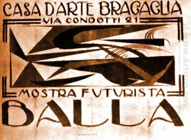 Poster For Casa D Arte Bragaglia 1918