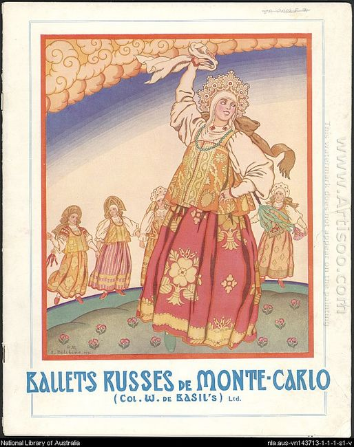 Poster Of Russian Ballet 1930