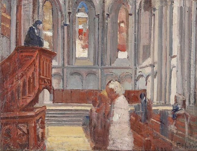 Prayer In The Cathedral Of St Pierre Geneva 1882