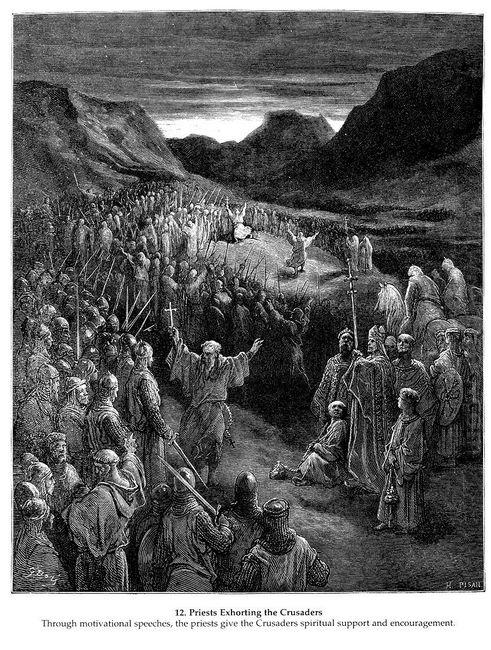 Priests Exhorting The Crusaders