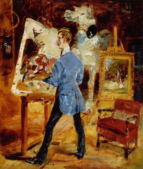 Princeteau In His Studio 1881