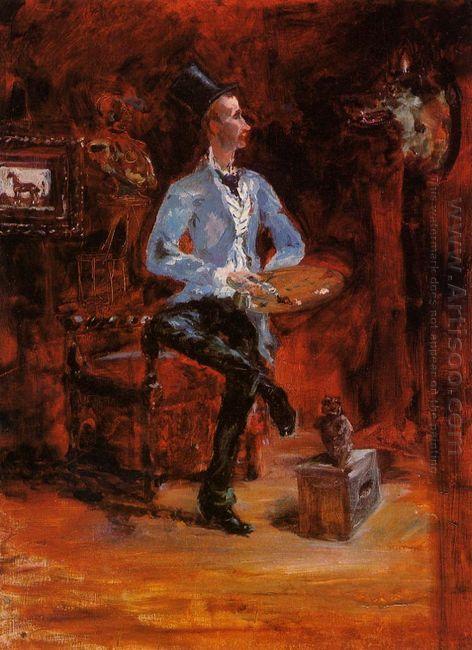 Princeteau In His Studio 1882