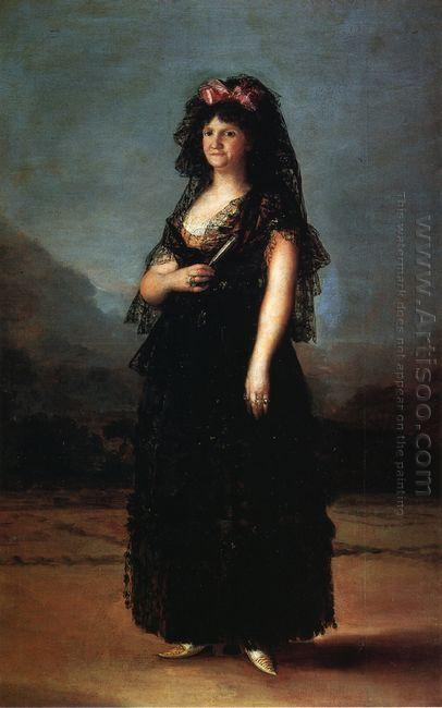 Queen María Luisa Wearing A Mantilla 1799