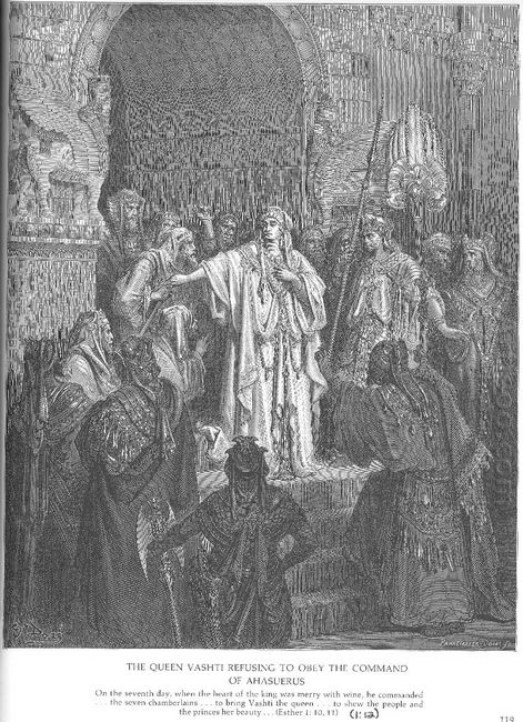 Queen Vashti Refuses To Obey Ahasuerus Command