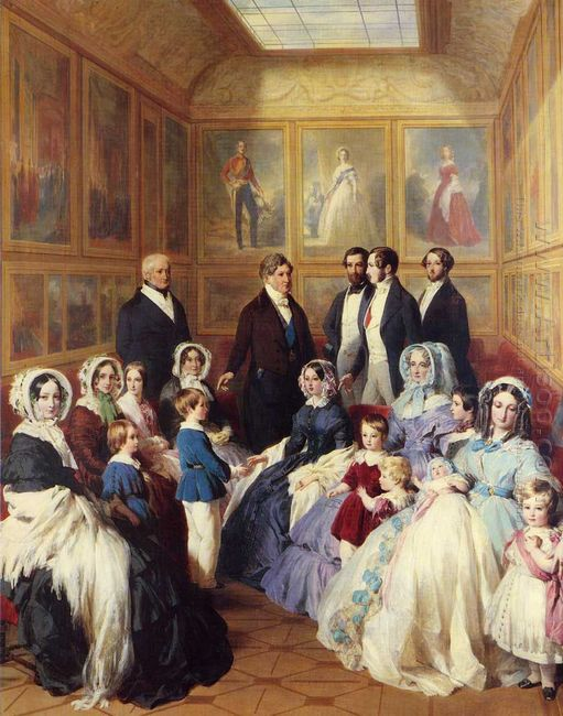 Queen Victoria And Prince Albert With The Family Of King Louis P