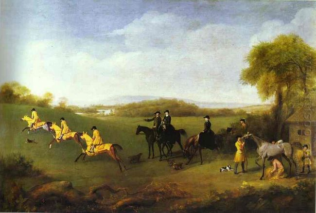 Racehorses Belonging To The Duke Of Richmond Exercising At Goodw