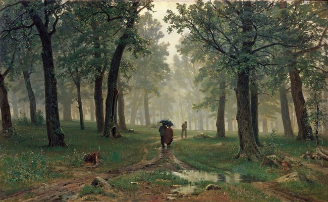Rain In The Oak Forest 1891