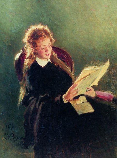 Reading Girl 1876