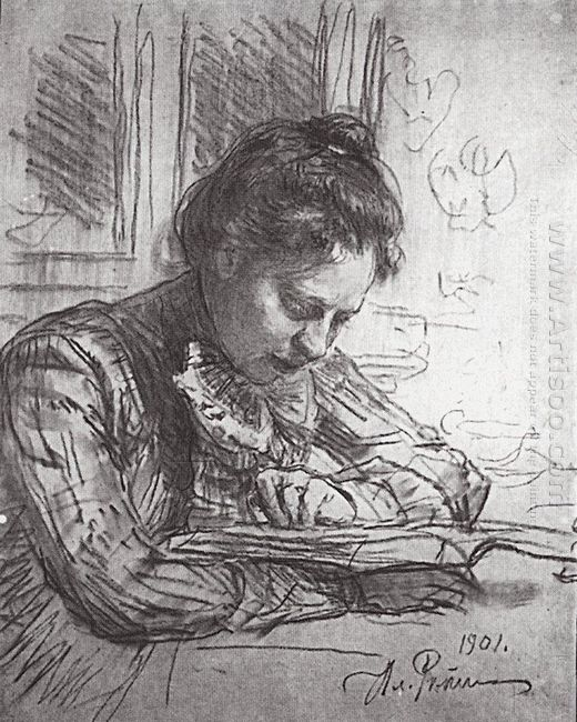 Reading Portrait Of Natalia B Nordman 1901