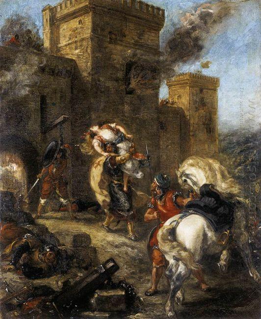 Rebecca Kidnapped By The Templar Sir Brian De Bois Guilbert 1858