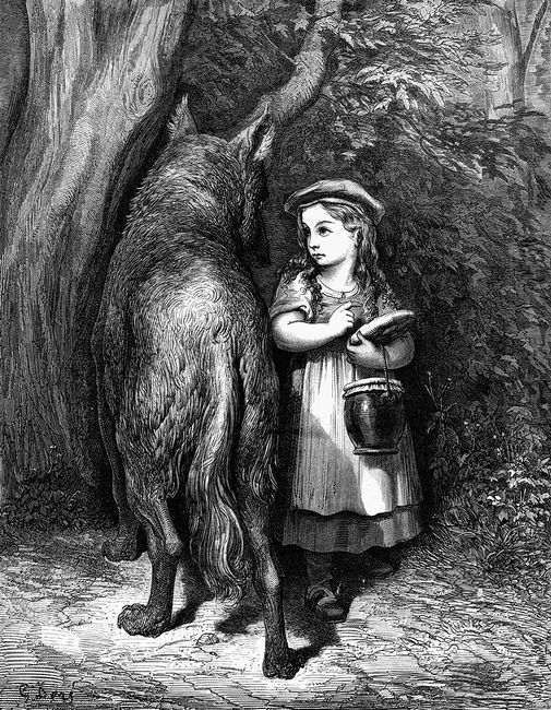 Red Riding Hood Meets Old Father Wolf