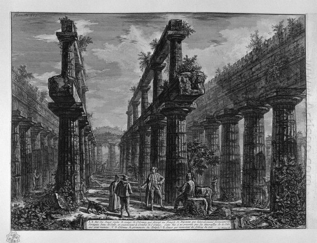 Remains Of Columns Making Up The Side Porches Of The Temple In T