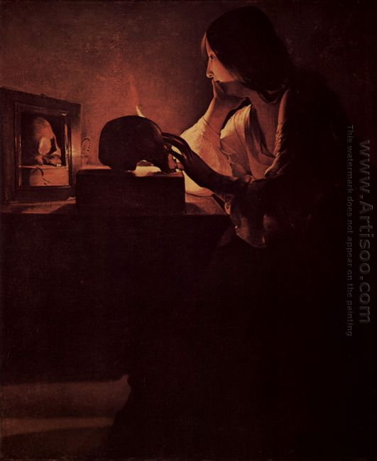 Repenting Magdalene Also Called Magdalene Before Mirror Or Magad