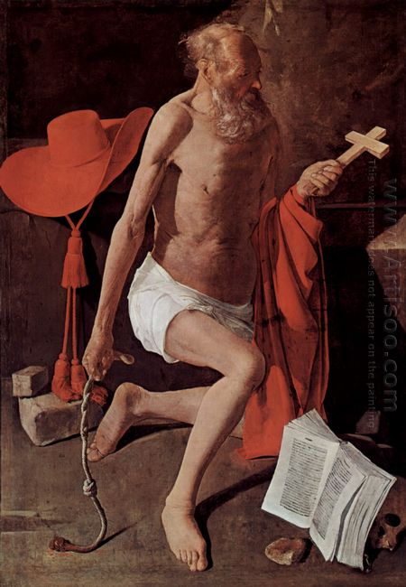 Repenting Of St Jerome Also Called St Jerome With Cardinal Hat 1