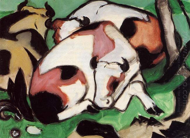 Resting Cows 1911